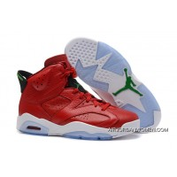 Best Air Jordans 6 Retro MVP/History Of Jordan Red Leather/Green