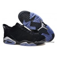 Best Air Jordans 6 Low Black/Metallic Silver