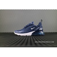 Nike Air Max 270 Flyknit Dark Blue Ah8050 007 Running Shoes Online