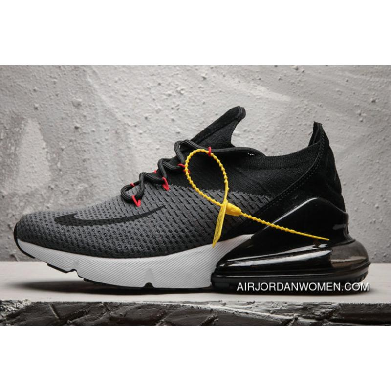 best sneakers 03bc8 16782 Nike Air Max 270 Flyknit Black Grey Max270 Running Shoes New Style