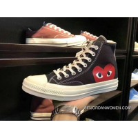 150206C Converse Cdg X Converse 1970S Rei Kawakubo Play Love Heart Collaboration Canvas Shoes New Style