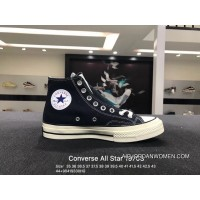 Converse All Star 1970S Converse Chuck Taylor 1970s High Black Canvas Shoes 142334C Size For Sale