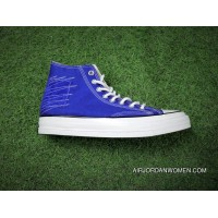 French Blue Attune Simplified NBHD Converse Chuck Taylor All Star 1970 S High Canvas Vulcanized Blue Sneakers Corduroy Patch Women Shoes And Men Shoes Discount