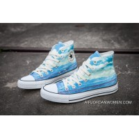 CONVERSE Chuck Taylor All Star Blue Sky City Printing High Abundance New Style