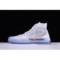 Off-White X Converse Chuck Taylor All Star High Tops White New Year Deals