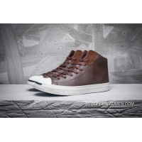 CONVERSE Jack Purcell LP L S Thin Bottom Leather Purchell Brown High 154146 C New Release