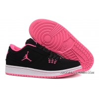 Girls Air Jordan 1 Low Black Pink Shoes New Release