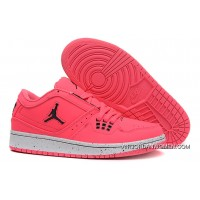 Girls Air Jordan 1 Low Pink Black Shoes Copuon