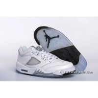 For Sale 2016 Air Jordan 5 Low Gs White/Black-Wolf Grey