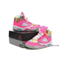 Girls Air Jordan 5 Pink Cherry Blossom Discount