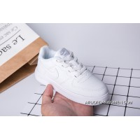 Kids Nike Air Force One All White Super Deals