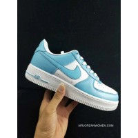 Wwp Nike Air Force One Men Shoes Blue White Men Low Sneakers AQ4134-400 Size Gold Free Shipping