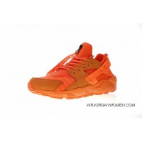 FULL GRAIN LEATHER USES System Normal Size Women Shoes And Men Shoes CHI Chicago Limited Nike AIR Huarache RUN QS NYC Original Retro All-match Jogging ShoesCHI Chicago Orange AJ5578-800 Outlet