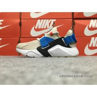 Nike Huarache 5 Air City Low Rice Yellow Blue White Velcro AH6804-401 May Be Substituted New Style