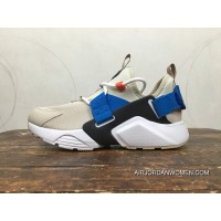 Nike Huarache 5 AIR CITY LOW Rice Yellow Blue White Heel Velcro Can Change After AH6804-006 New Release