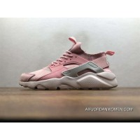 Nike Air Huarache Pig Leather Material Running Shoes Women God Pink 829669-669 Copuon