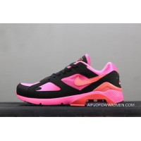 Nike Air Max 180 X Comme Des Garcons Laser Pink/Solar Red-Black Ao4641-601 Free Shipping