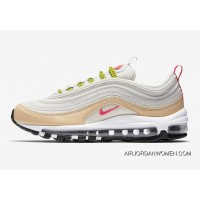 Nike Air Max 97 White Tan Pink And Neon Super Deals