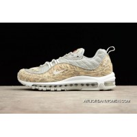 Top Deals Supreme X Nike Air Max 98 Snakeskin Sail/Metallic Silver-Varsity Red-White