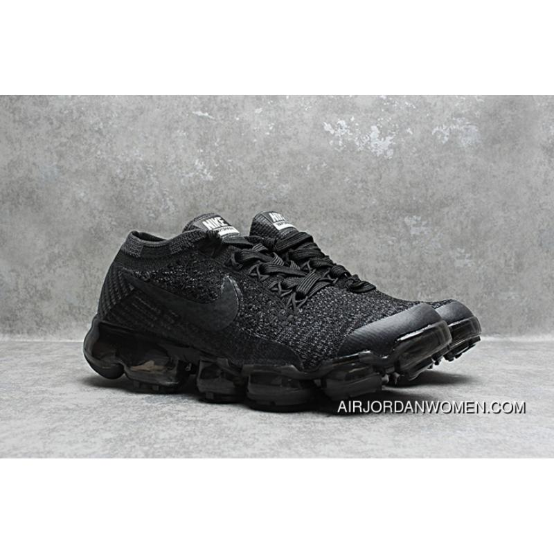 meet ce77b a99d0 Nike Air Max 2018 VaporMax Kids Shoes All Black New Year Deals