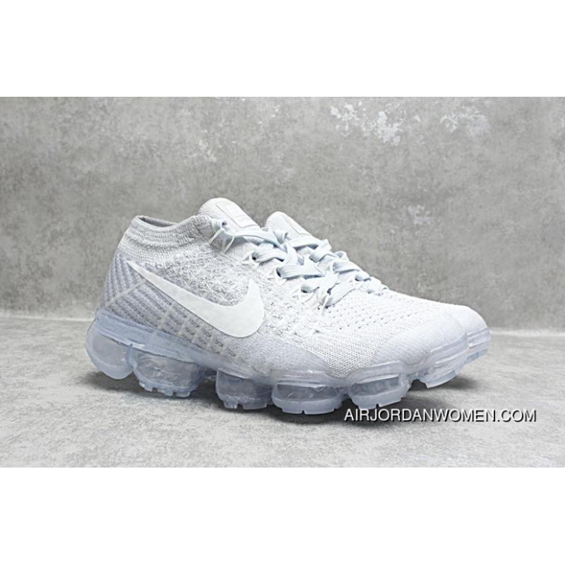 brand new 51e71 5b5c4 Nike Air Max 2018 VaporMax Kids Shoes Grey White Latest