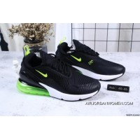 Nike Jacquard Air Max 270 Flyknit Half-palm Cushion Black Green Online