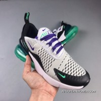 The NIKE Air Max 270 Series Heel Half-palm As Jogging Shoes White Black Purple Grapes Green AH6789-103 Online