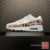 Nike Air Max 90 NIC QS International Banner Flag International World Cup Limited Retro Zoom Running Shoes AO5119-10013 Free Shipping
