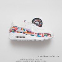 The 190 World Cup Limited Nike Air Max 90 NIC QS Retro Zoom Jogging ShoesInternational Banner Flag International SKU AO5119-100 New Style