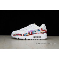 P19 Nike Air Max 90 NIC QS Retro Zoom Jogging ShoesInternational Limited International Banner Flag World Cup AO5119-100 Women Shoes And Men Shoes New Release