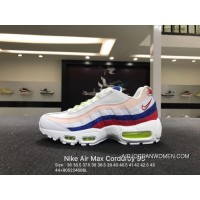 SC With Article 3 M Reflective Tricolor Nike Air Max 95 Retro Corduroy Zoom Jogging Shoes White Blue Corduroy Shallow Pink AQ4138-101 Size Online