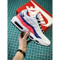 Nike Air Max 95 TT Retro Zoom All-match Jogging Shoes Series OG White Blue Pink 749766-106 Men Shoes For Sale