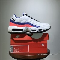 Shoes Last Men Shoes Nike Air Max 95 TT Retro Zoom All-match Jogging Shoes Series OG White Blue Pink 749766-106 Size Discount
