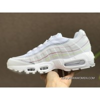 Nike Air Max 95 Release Date May 2018 Style Code AQ4138-100 White Rainbow Limited Women Free Shipping