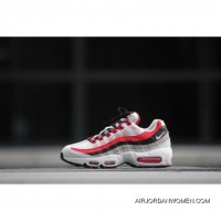 NIKE Air Max 95 Essential 749766-601 High Quality Red Grey Copuon