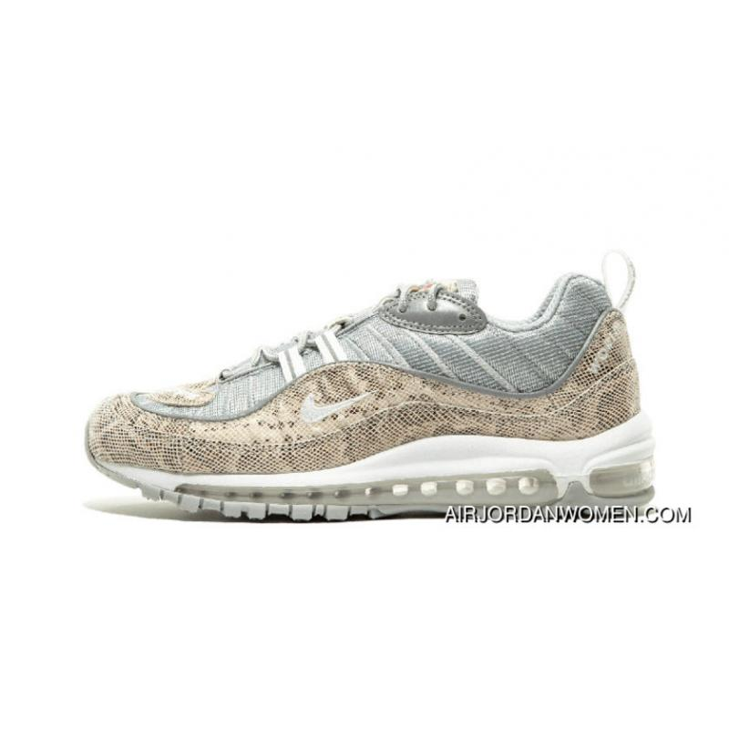 new arrival 402f2 20a82 2018 Supreme Nike Air Max 98 844694 100 Gold Grey White New Release