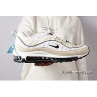 Nike Air Max 98 White/Black-Fossil-Reflect Silver For Sale
