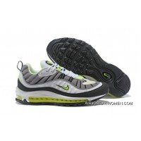 Nike Air Max 98 Cool Grey/Black-Metallic Silver-Volt New Release