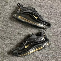 Men Shoes Nike Air Max 98 Retro Zoom All-match Jogging Shoes Black Yellow 640744-080 For Sale