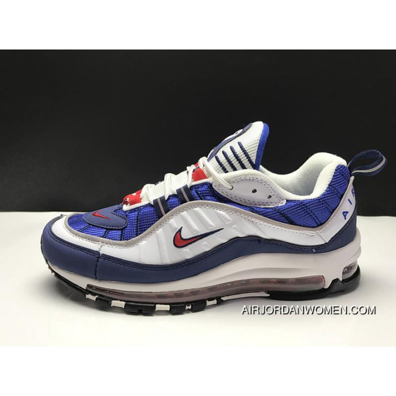 low cost e0486 10f9e Nike Air Max 98 OG Gundam Is As High As The White Blue Red Retro Zoom Men  Running Shoes AH6799-100 Outlet