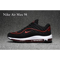 Nike Air Max 98 Black And Red Copuon