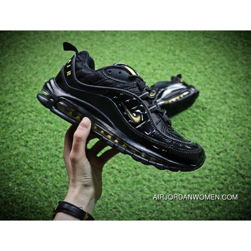 buy online 5686b 47192 Nike Air Max 98 Retro Zoom All-match Jogging Shoes Black Yellow  640744-080-Men Shoes New Style