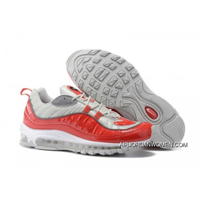 size 40 0204e af689 Men Nike Air Max 98 White/Red Top Deals