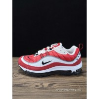 Nike 98 844694-600 Joint Supreme X Air Max 98 Right Zhilong Red Men Shoes Copuon