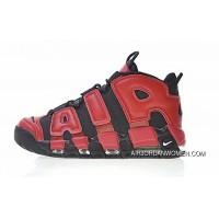 New Style 2017 Nike Air More Uptempo QS Black Red Shoes