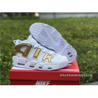 2017 Nike Air More Uptempo White Gold Online