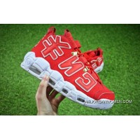For Sale 2018 Custom Red Nike Air More Uptempo CNY Chinese New Year