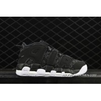 2018 Kaws X Nike Air More Uptempo Graffiti Black Top Deals