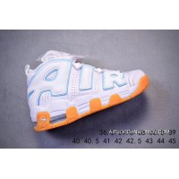 Nike Air More Uptempo 96 White Brown Women Men 2018 New Release Super Deals