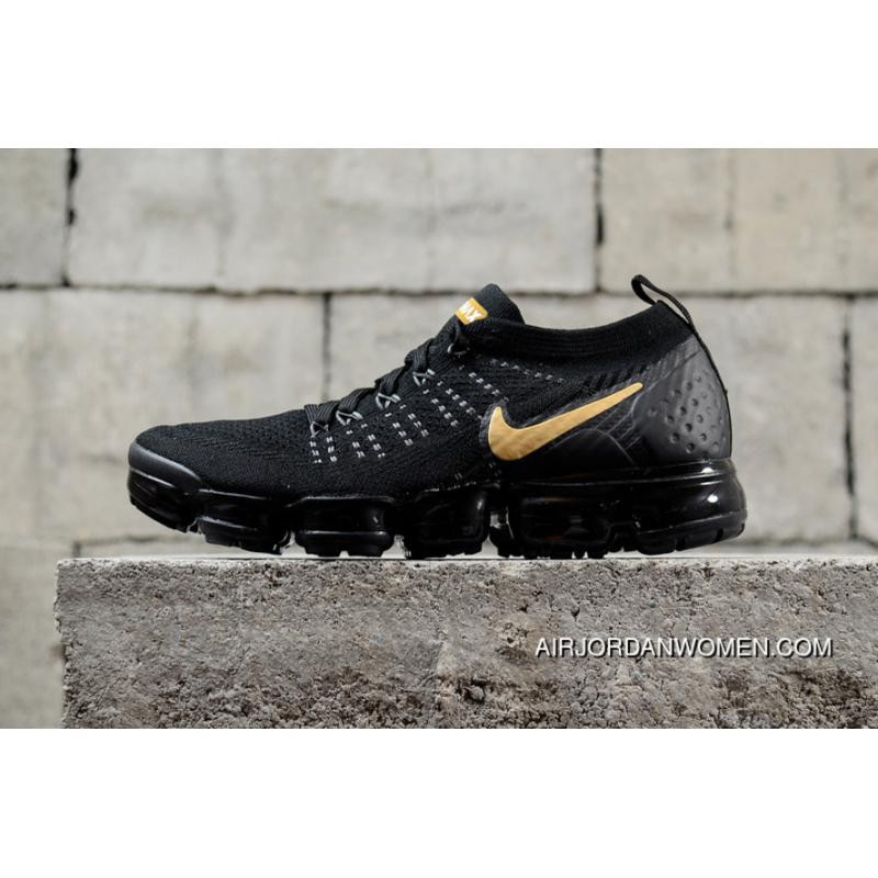sports shoes 050c9 fb44e Nike Air Vapormax Flyknit 2018 2.0 Zoom Black Gold 942842-009 New Year Deals